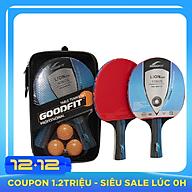 Bộ 2 vợt bóng bàn tặng kèm 3 bóng GoodFit GF001TS thumbnail
