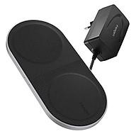 Bộ Sạc Không Dây Spigen Essential F310W Dual Qi Fast Wireless Charger - ha ng chi nh ha ng thumbnail