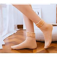 [Combo 2 đôi] Tất vớ nữ lót lông ấm áp, thon gọn bàn chân thumbnail