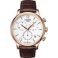 Tissot Men s T0636173603700 Tradition Analog Display Swiss Quartz Brown Watch thumbnail