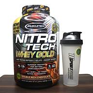 Combo Sữa tăng cơ Nitro Tech 100% Whey Gold của Muscle tech hương socola hộp 76 lần dùng & Bình lắc 600 ml (Màu Ngẫu Nhiên) thumbnail