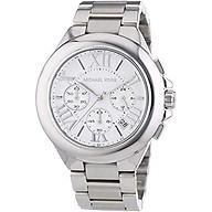 Michael Kors MK5719 Women s Chronograph Camille Stainless Steel Bracelet Silver Watch thumbnail