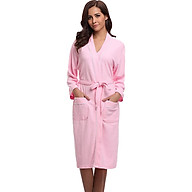 Áo Choàng Tắm Hantexco Tổ Ong Màu Hồng (100% cotton, mền mịn, thấm hút tốt) thumbnail