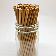 100 Ống Hút Cỏ (Grass Straws) Dài 15 cm - Không Tan, Biến Dạn Trong Nước - Dùng Được Cho Tất Cả Các Loại Thức Uống thumbnail