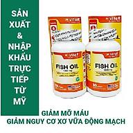 COMBO 2 HỘP DẦU CÁ VITAR FISH OIL 1000MG (100 VIÊN) - TPBVSK - Bổ sung Omega-3, DHA và EPA - Sản xuất và nhập khẩu trực tiếp từ Mỹ (USA) thumbnail