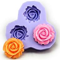 Khuôn rau câu silicon 3 hoa hồng thumbnail