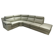 Sofa Da Góc Juno AARON 290 x 230 x 93 cm (Kem) thumbnail