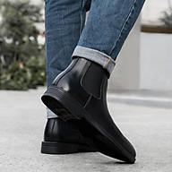 Giày Boots Nam Cổ Cao Chelsea Cao Cấp Chuẩn Form Da Trơn Nhẵn Không Nhăn Không Phình Tôn Dáng - GCN12 thumbnail
