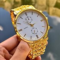 Đồng hồ thời trang nam nữ dây kim loại vàng sang trọng MS662 thumbnail