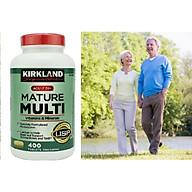 Vitamin tổng hợp Kirkland Mature Multi Adult 50+ Hộp 400 viên của Mỹ - dành cho nam, nữ trên 50 tuổi, Tăng cường miễn dịch, phòng bệnh tật, đặc biệt là các bệnh lây nhiễm, bệnh do virus, vi khuẩn thumbnail