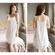 Che Tên - Đầm Ngủ Ren Hai Dây Big Size Erotic Lingerie Sleepwear pajamas BCS21 T 1547 thumbnail