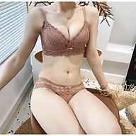 B06 bộ đồ lót cao cấp hàng thiết kế, không gọng, mút su non dày 5-6cm, nâng ngực, tạo khe sexy thumbnail