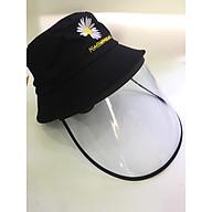 Combo 3 cái Nón vải có kính nhựa bảo vệ mắt chống giọt bắn, khói bụi - màu đen thumbnail