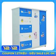 Tủ nhựa đài loan 2 cánh 5 ngăn kéo cao cấp V250 thumbnail