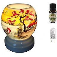 Combo tinh dầu sả chanh Eco oil 10ml cùng đèn xông tinh dầu MNB06 và 1 bóng đèn thumbnail
