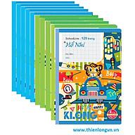 Lố 10 quyển Vở 4 ô ly SchoolLine may dán gáy 120 trang - TP048 thumbnail