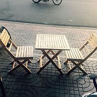 Bộ Bàn ghế cafe, trà mini cao su 2 ghế và 1 bàn thumbnail