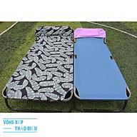 giường xếp 90cm lớn 2 người nằm khung sơn tĩnh lợp vải bố thumbnail