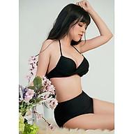 Bộ Bikini Cạp Cao Đen Cổ Điển BKN93 thumbnail