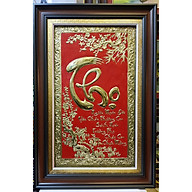 Tranh đồng vàng nguyên chất liền tấm thúc nổi chữ THỌ tiếng VIỆT- A214 thumbnail