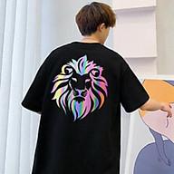 Áo Thun Nam_ Nữ Phản Quang In hình SƯ TỬ_LION , áo chất, đi đêm, đi phượt bao ngầu, nhìn đã mắt thumbnail