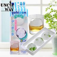 Bộ 2 khay làm đá Yukipon tròn 03 viên làm từ nhựa PP cao cấp an toàn - made in Japan thumbnail