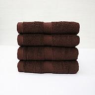 Combo 5 khăn quấn tóc, khăn mặt SPA Nam Phong - 34x80 cm - màu nâu socola thumbnail