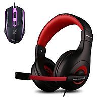 Combo Tai nghe chơi Game Ovann X4 và Chuột Có Dây Cool Mouse (Màu Ngẫu Nhiên) - Hàng Chính Hãng thumbnail