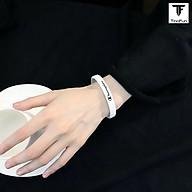 Vòng tay nam nữ TinoFun đẹp mã TF2 Vòng đeo tay nam nữ cao su co giãn họa tiết thumbnail