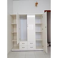 Tủ áo kèm kệ trang trí 1m6 x 1m8 x 0,5 m (trắng) thumbnail