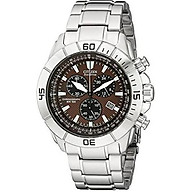Citizen Men s AT0810-55X Stainless Steel Eco-Drive Watch with Brown Dial thumbnail