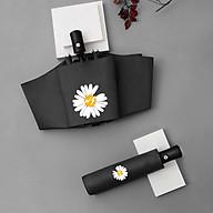Ô Dù Tự Động In Hình Hoa Cúc - Chống Tia UV Cao Cấp ( Tặng Móc Chìa Khóa BG) thumbnail