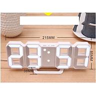 Đồng Hồ Điện Tử Treo Tường Mặt Kính 3D thumbnail