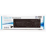 Bàn phím không dây văn phòng Nano RF Keyboard với thiết kế mỏng gọn Actto KBD-34 - Hàng chính hãng thumbnail