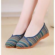 Giày búp bê nữ vải siêu xinh đi êm chân cao 2.5cm V226 thumbnail