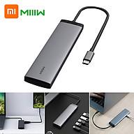 Xiaomi Youpin MIIIW Bộ chuyển đổi 7 trong 1 Type-C Bộ chuyển đổi kết nối di động Không cần ổ đĩa 3 cổng USB3.0 Độ nét cao 4K thumbnail