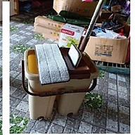 Bộ Cây lau nhà tự vắt xoay 360, chổi lau nhà thông minh, xô thùng lau nhà vắt tiện lợi - thết bị vệ sinh nhà cửa cao cấp thumbnail