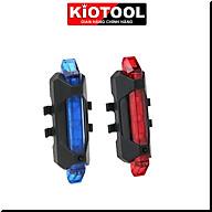 Đèn báo hiệu gắn đuôi xe đạp Kiotool nhiều chế độ sáng chống nước thumbnail