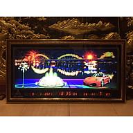 Tranh đồng hồ điện vạn niên, Cảnh Cầu Rồng Đà Nẵng có hiệu ứng đèn pháo hoa - 435 thumbnail