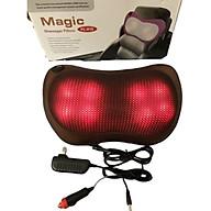 Gối massage 8 bi loại bi đỏ hồng ngoại và rõ hình bi thumbnail