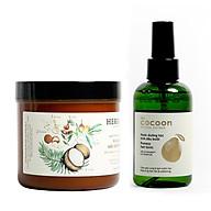 Combo kem ủ tóc herbario 500ml + Nước dưỡng tóc xịt bưởi pomelo cocoon 140ml thumbnail