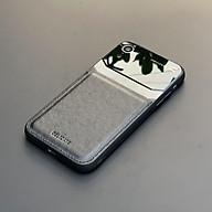 Ốp lưng da kính cao cấp dành cho iPhone XR - Màu đen - Hàng nhập khẩu - DELICATE thumbnail