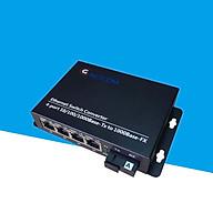 Converter quang 4 port lan 10 100 1000M GNETCOM GNC-2114S-20A - Hàng Chính Hãng thumbnail