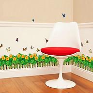 Decal dán tường trang trí phòng khách- Chân rào hoa da cam- DSK7033 thumbnail