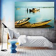 Tranh Canvas Treo Tường Decor Trang Trí Phong Cảnh Biển Bình Minh - Công Nghệ In UV Nhật Bản - Màu Sắc Đẹp Rõ Nét thumbnail