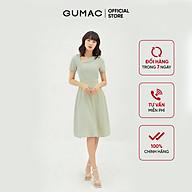 Đầm xòe nữ thiết kế cổ lật bản eo GUMAC DB365 thumbnail