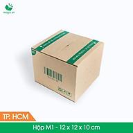 M1 - 12x12x10 cm - 100 Thùng hộp carton + tặng 50 decal HÀNG DỄ VỠ thumbnail