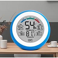 Máy đo nhiêt độ, độ ẩm hình tròn dạng mini - Tặng thêm 2 móc dán treo đồ thumbnail