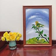 Tranh sơn dầu họa sỹ sáng tác vẽ tay CHÚ CHIM VÀNG thumbnail