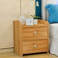Tủ đầu giường gỗ 2 ngăn cao cấp-màu ngẫu nhiên thumbnail